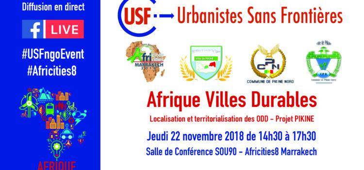 Africités8 USF présente Afrique Villes Durables